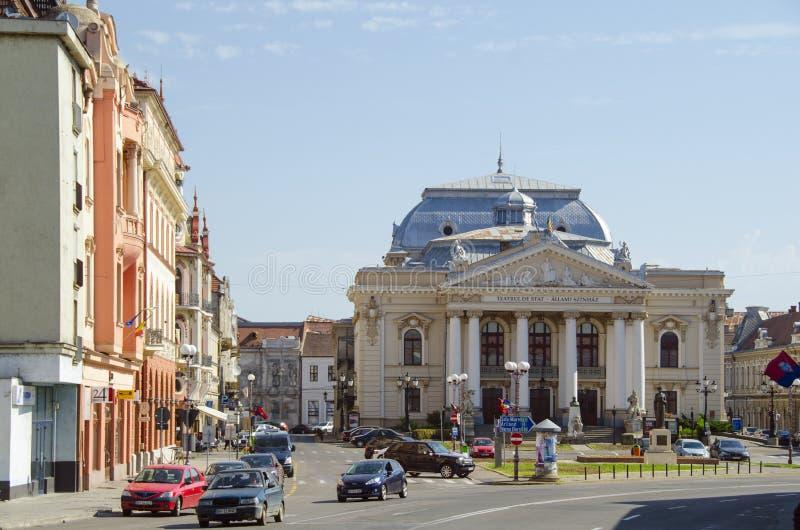 La Reine Mary State Theatre dans Oradea photographie stock libre de droits