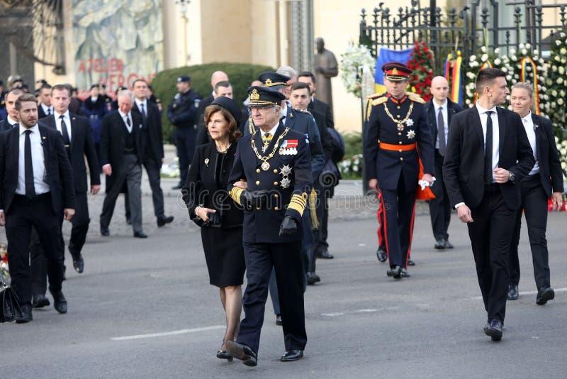 La Reine Silvia et le Roi Carl du ` s de la Suède XVI Gustaf photographie stock