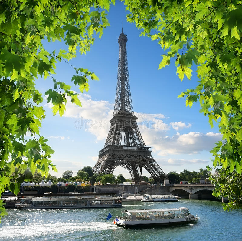 La-Reis D ` Eiffel stock foto