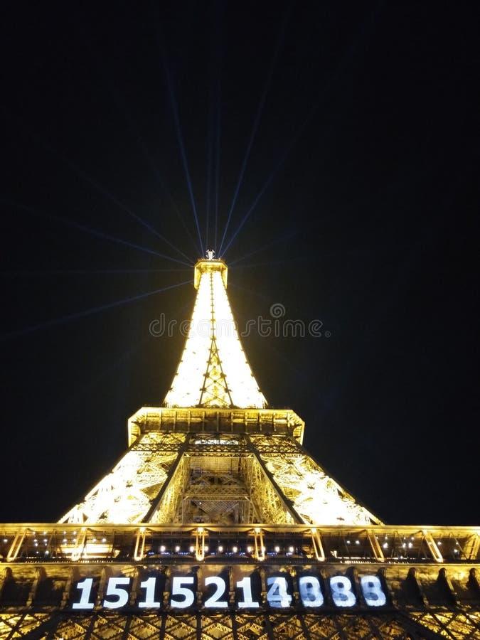 La reist Eiffel stock foto