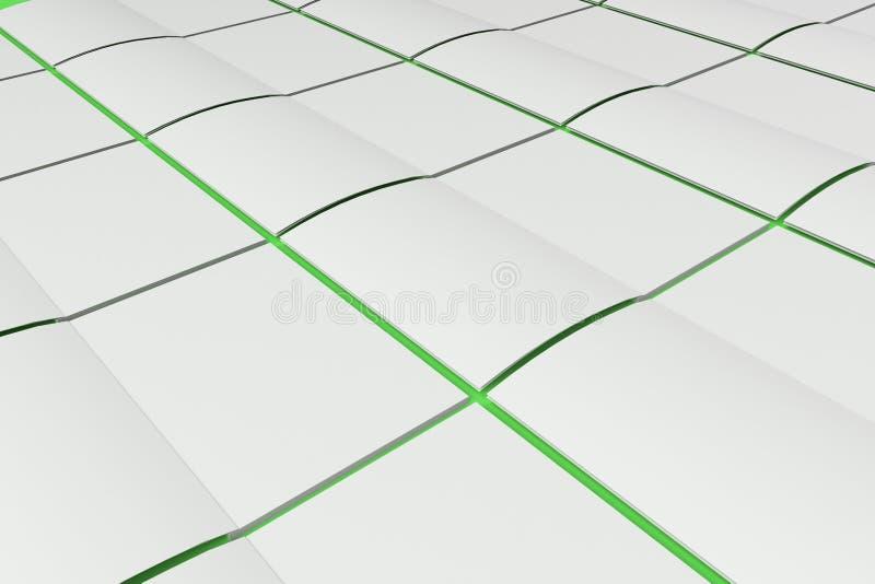 La rejilla del blanco en blanco abrió la maqueta del folleto en fondo verde ilustración del vector