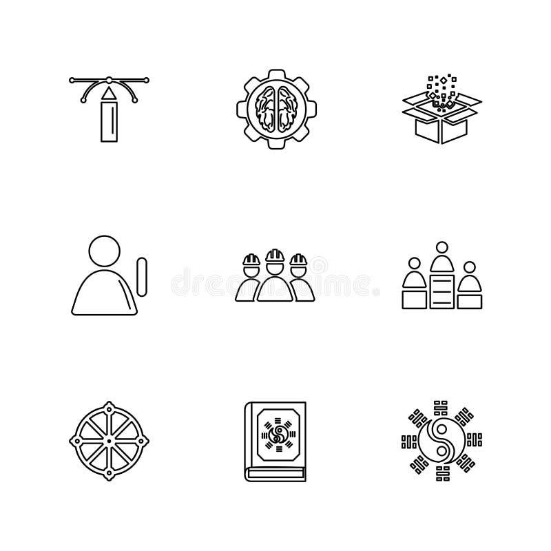 la religión, redes, equipo, ciencia, iconos del EPS fijó vector libre illustration
