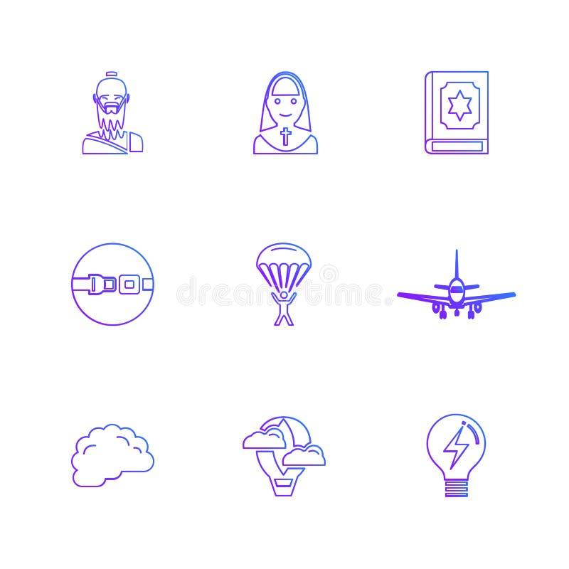 la religión, redes, interfaz de usuario, web, iconos del EPS fijó vecto stock de ilustración