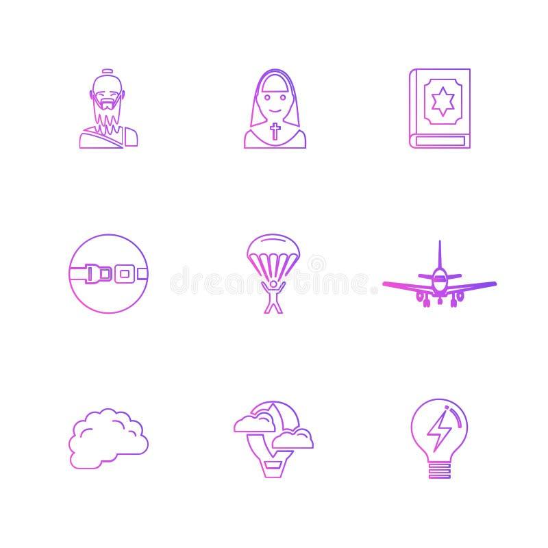 la religión, redes, interfaz de usuario, web, iconos del EPS fijó vecto libre illustration