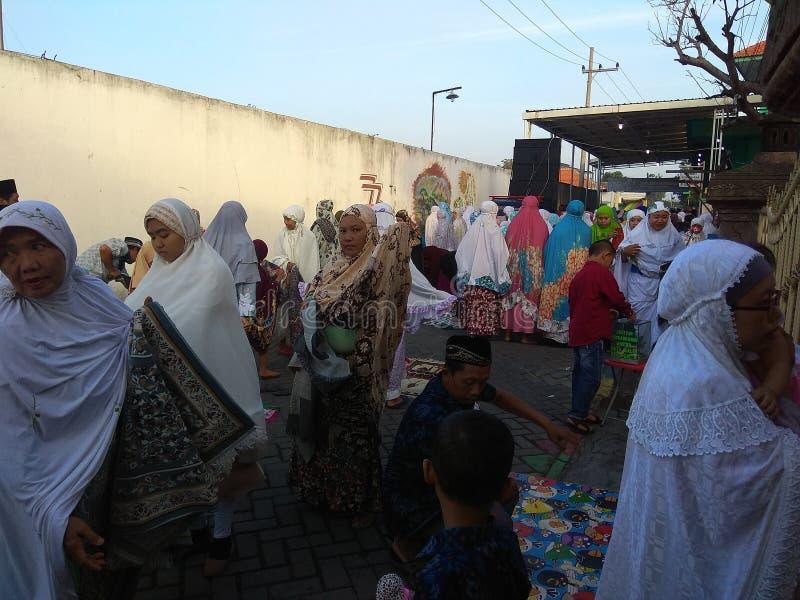 La religion de l'Islam prient dessus photographie stock