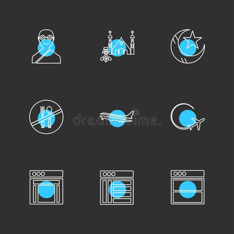 la religione, le reti, interfaccia utente, web, icone di ENV ha messo il vecto illustrazione vettoriale