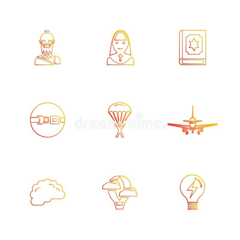 la religione, le reti, interfaccia utente, web, icone di ENV ha messo il vecto illustrazione di stock