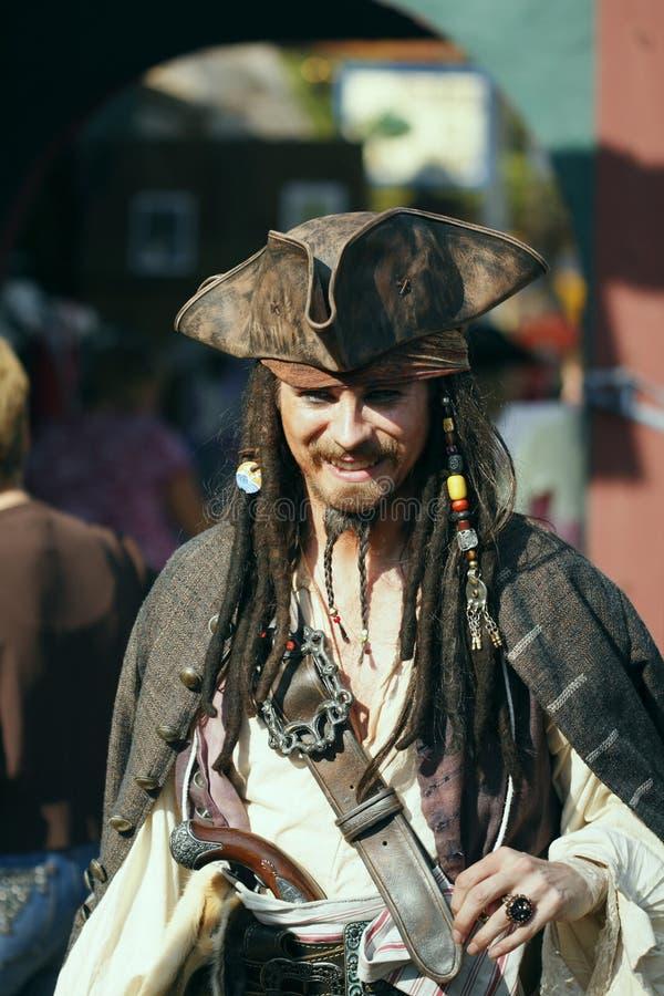 la Renaissance 2008 de pirate de festival de danseur image libre de droits