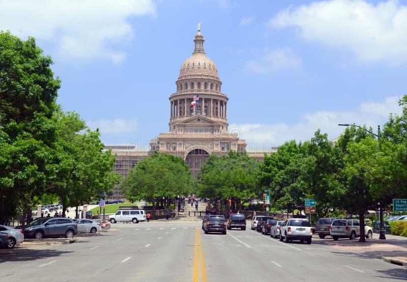 La Renaissance italienne dénommée, bâtiment de Texas State Capitol dans Austin, le Texas, l'état de Lone Star photographie stock libre de droits