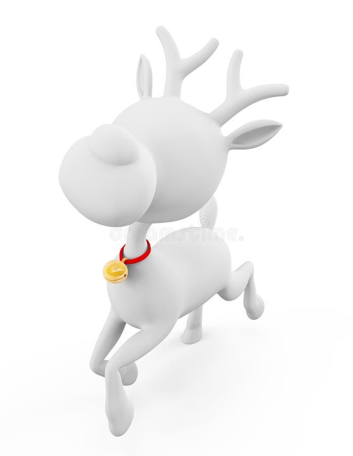 la renna 3d sta correndo royalty illustrazione gratis