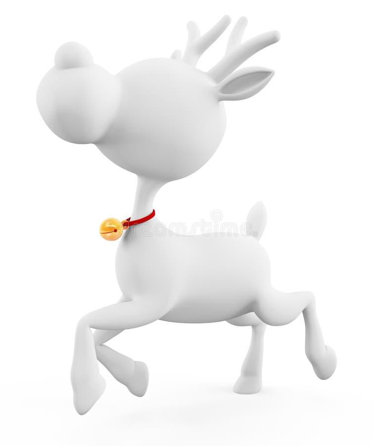 la renna 3d sta correndo illustrazione di stock