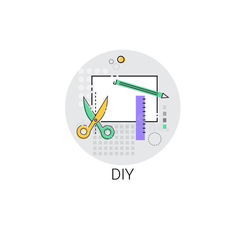 La renovación de la casa de Diy equipa el icono stock de ilustración