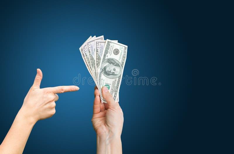 La renta aprovecha dólares foto de archivo libre de regalías