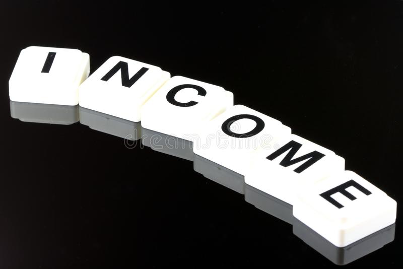 La renta de la palabra - un término usado para el negocio en finanzas y el comercio del mercado de acción imagenes de archivo