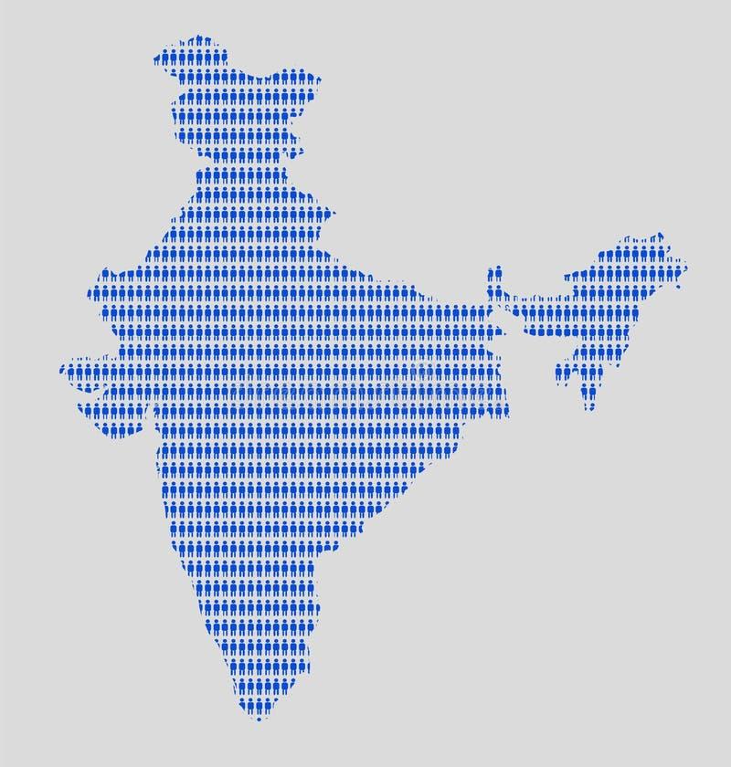 La República de India y la población stock de ilustración