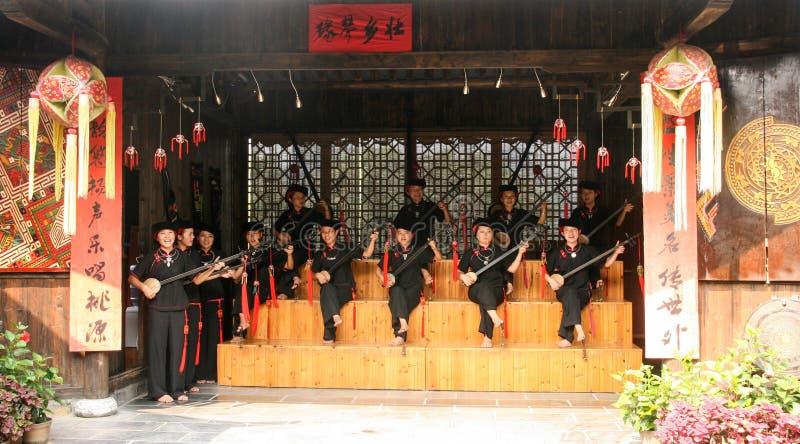 La représentation dans la terre de la beauté idyllique du secteur scénique de Guilin photos libres de droits