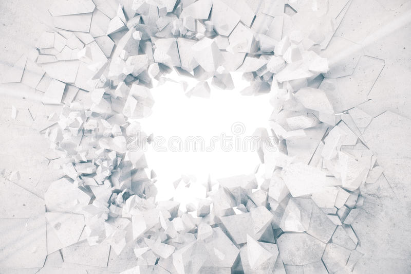 la representación 3d atormentó el fondo abstracto de la tierra con los rayos ligeros del volumen stock de ilustración