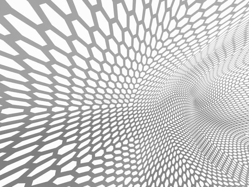 la representación 3d curvó el extracto en el fondo blanco, ejemplo ilustración del vector