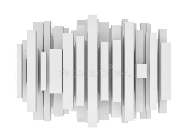 La representación del extracto diferente clasificó líneas en el fondo blanco ilustración del vector