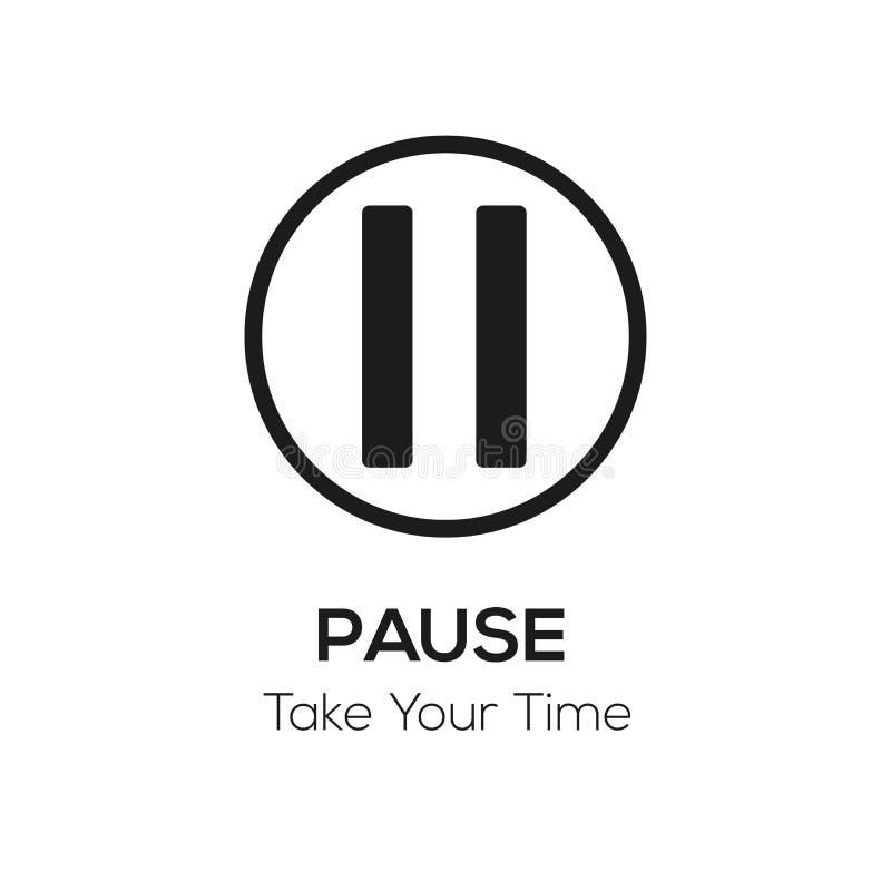 La representación visual de la pausa, toma su concepto del tiempo ilustración del vector