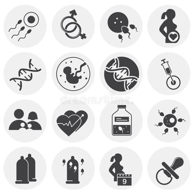 La reproduction a rapporté des icônes réglées sur le fond pour le graphique et la conception web Illustration simple Symbole de c illustration libre de droits