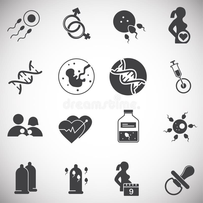 La reproduction a rapporté des icônes réglées sur le fond pour le graphique et la conception web Illustration simple Symbole de c illustration de vecteur