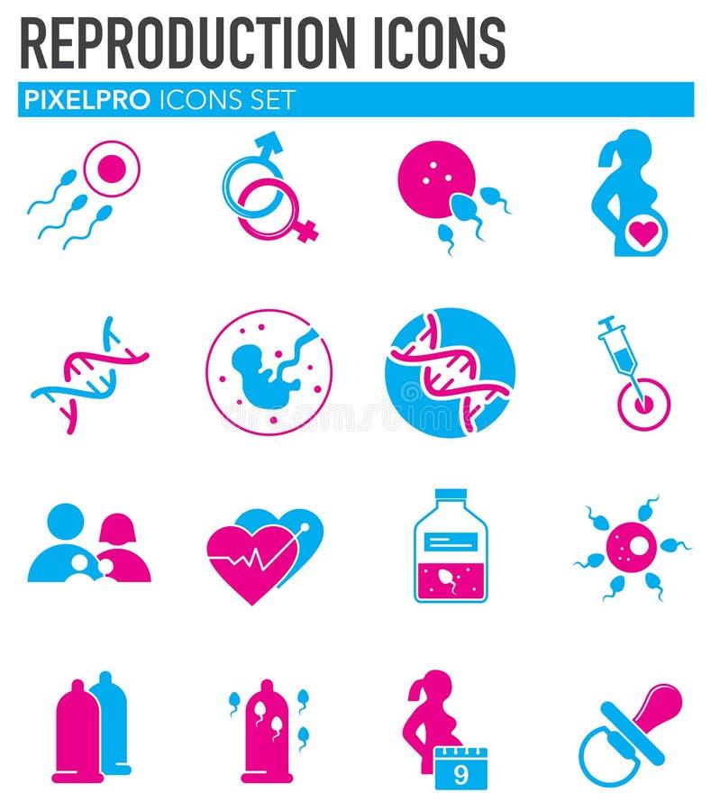 La reproduction a rapporté des icônes réglées sur le fond pour le graphique et la conception web Illustration simple Symbole de c illustration stock