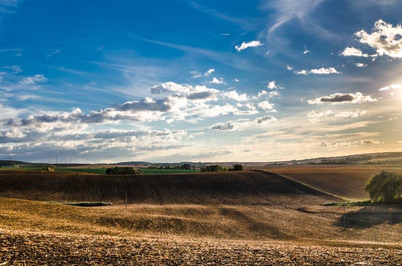 La repubblica Ceca dell'azienda agricola della regione montana fotografie stock libere da diritti