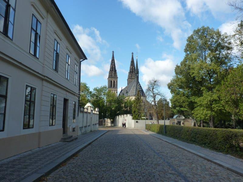 La repubblica Ceca, Praga - il Vysehrad immagine stock