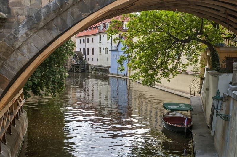 La repubblica Ceca, Praga Isola di Kampa immagini stock libere da diritti