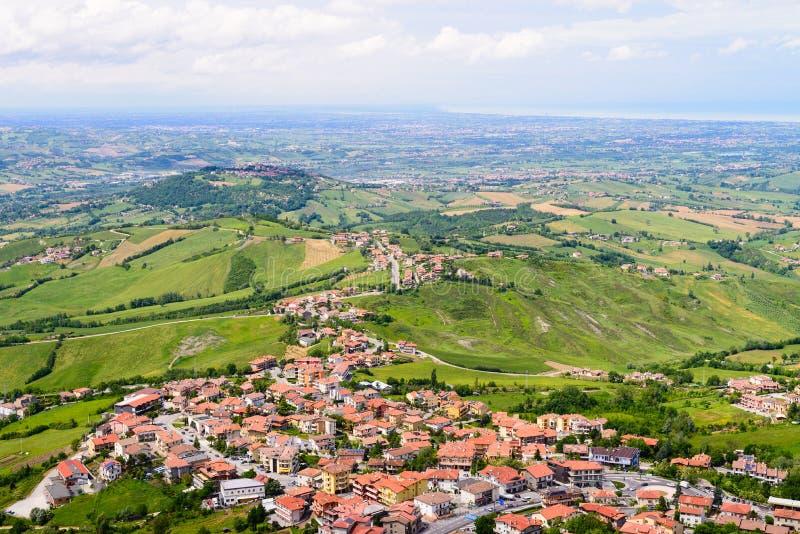 La Repubblica di San Marino fotografie stock libere da diritti