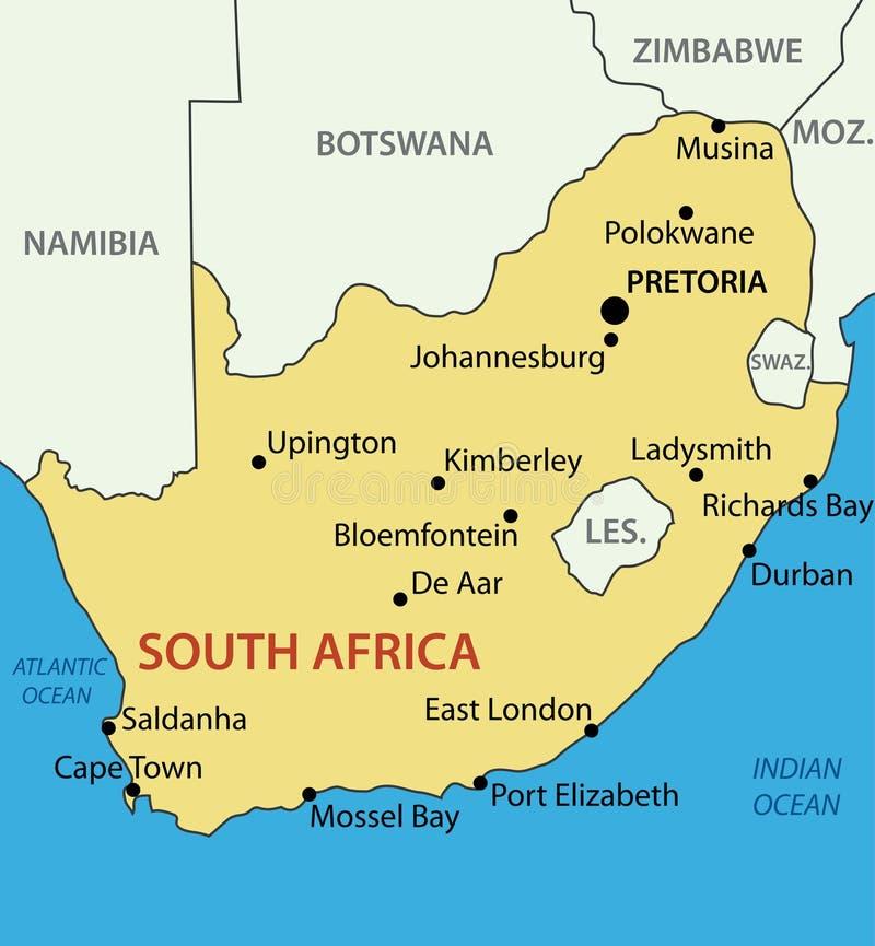 La Repubblica Sudafricana - mappa di vettore royalty illustrazione gratis
