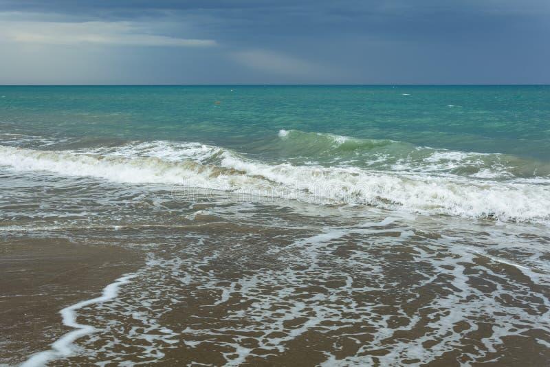 La resaca del mar fotografía de archivo