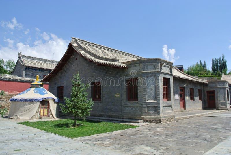 la residencia de los príncipes mongoles en Alxa imágenes de archivo libres de regalías