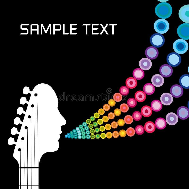 La retro chitarra parla illustrazione vettoriale