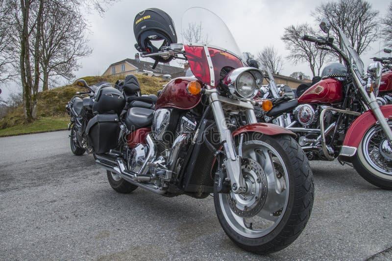 La reunión de la moto en fredriksten la fortaleza, Honda foto de archivo libre de regalías