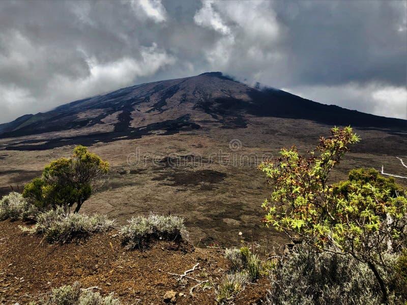 La Reunion Island do vulcão de la fournaise do pitão fotografia de stock