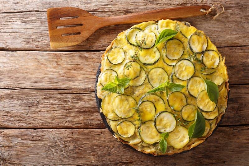 La ricetta per lo scarpaccia salato è tipica del Toscano Apra la z immagini stock libere da diritti