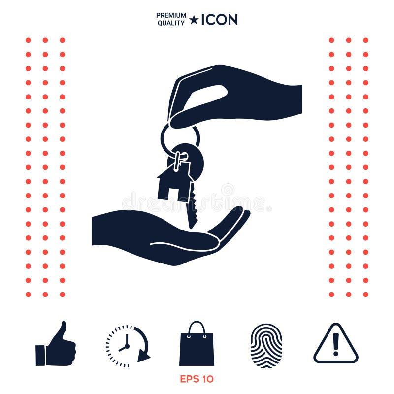 Download La Ricezione Della Chiave Con Keychain Ha Modellato Come Un'icona Di Casa Illustrazione Vettoriale - Illustrazione di luce, ipoteca: 117976566