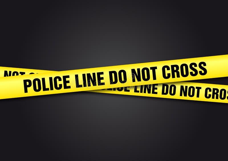 La riga di polizia non attraversa illustrazione vettoriale