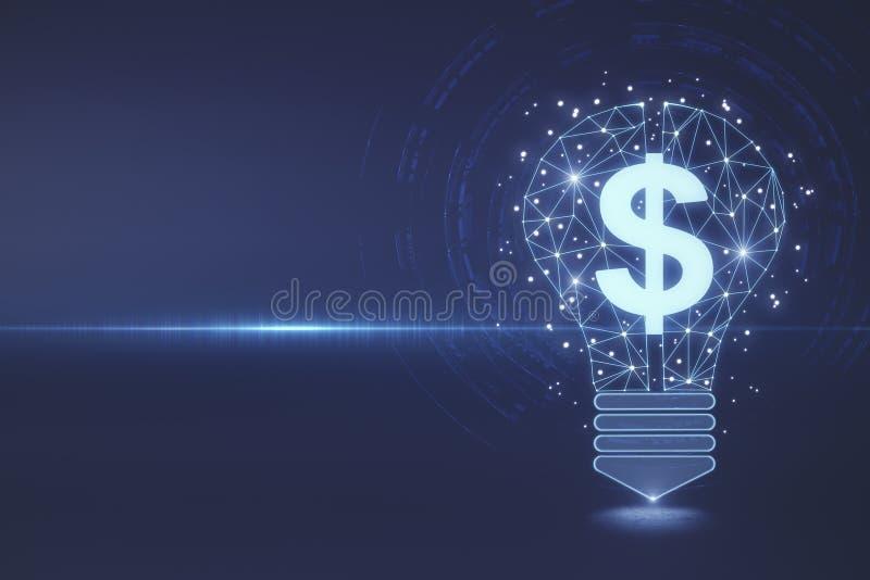La riqueza, la idea, el dinero y la innovación wallpaper stock de ilustración