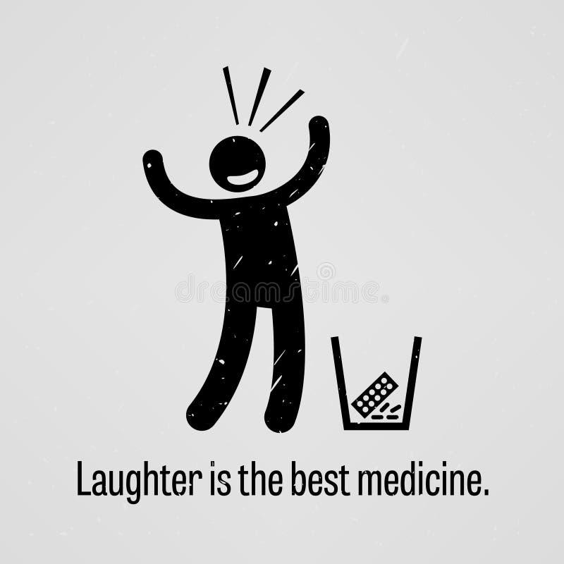 La risa es el mejor proverbio de la medicina libre illustration