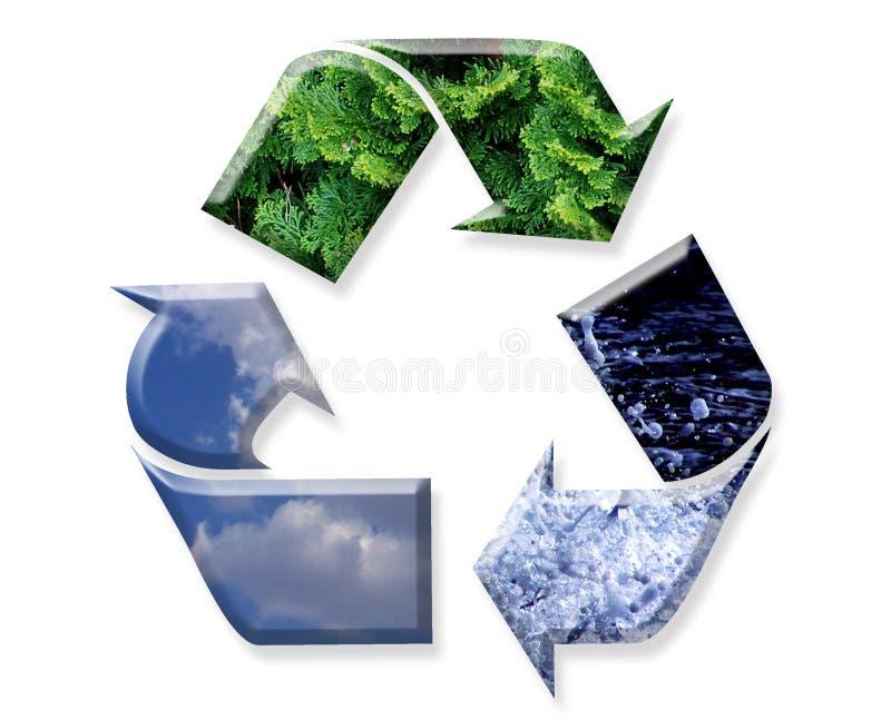 La riutilizzazione, ricicla, si riduce immagini stock