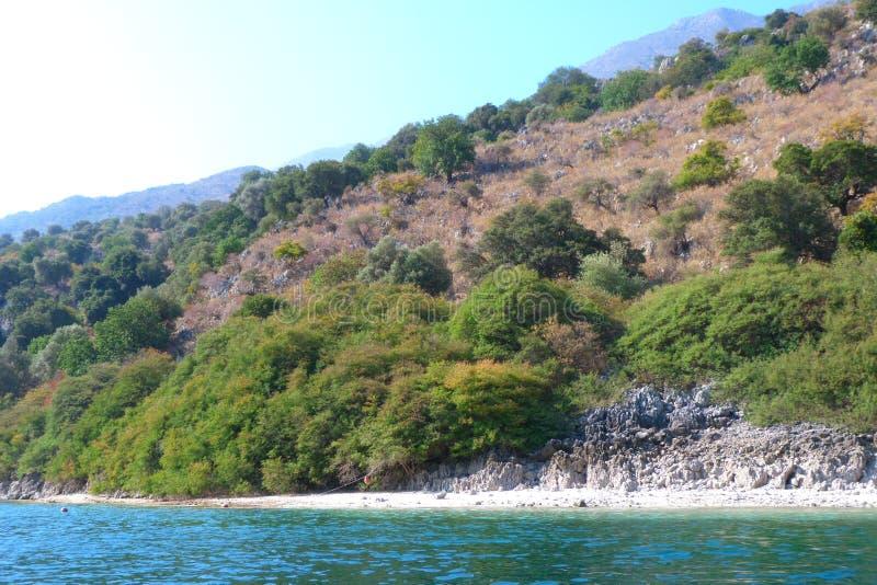 La riva del lago fotografie stock