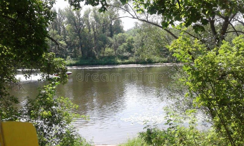 La riva del Volga fotografia stock