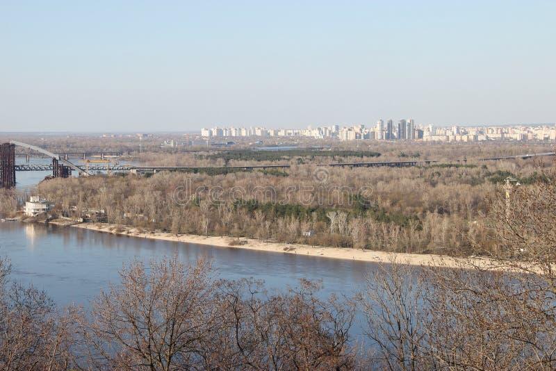 La riva sinistra del Dnieper fotografie stock libere da diritti