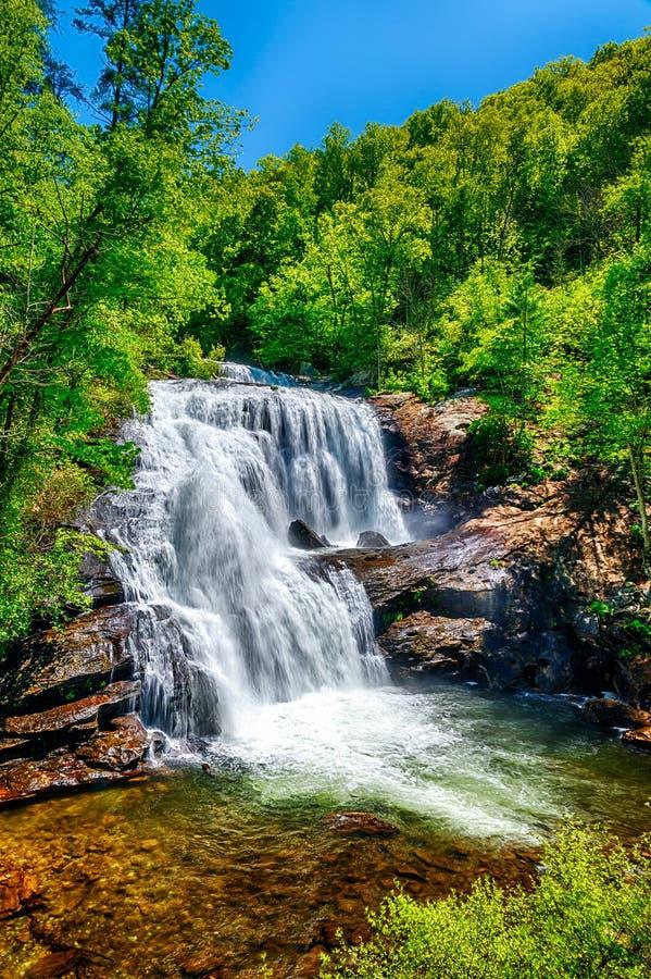 La rivière chauve tombe en Tennessee Smoky Mountains image libre de droits