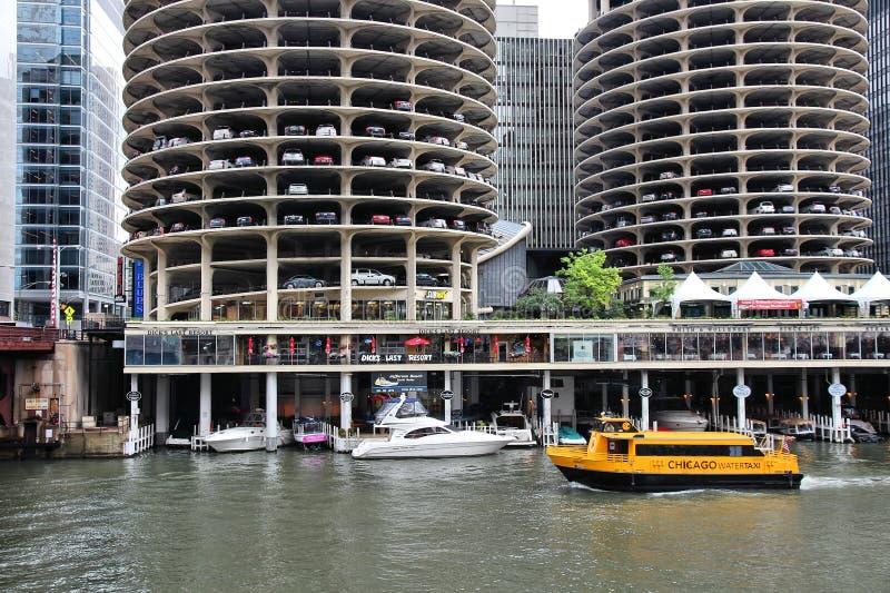 La rivière Chicago images libres de droits