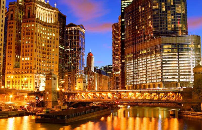 La rivière Chicago photographie stock