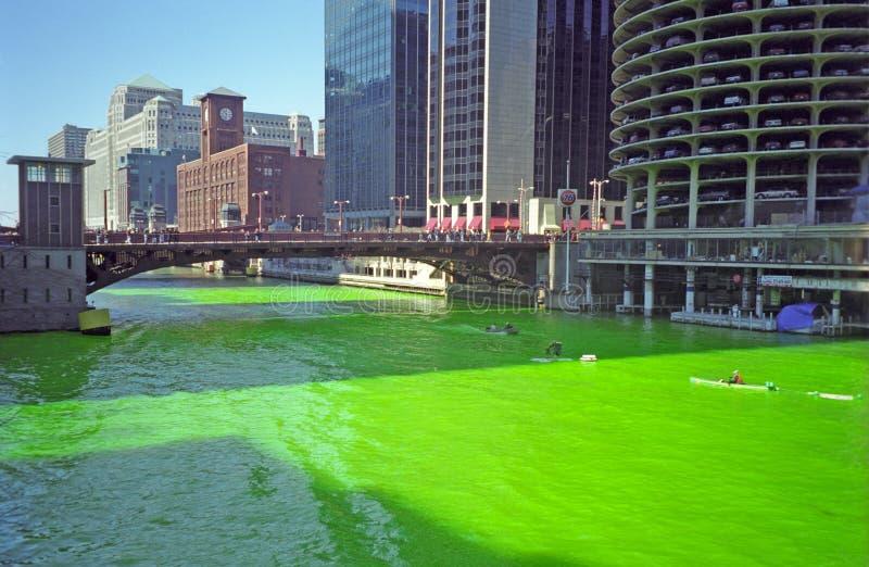 La rivière Chicago, Chicago, photos stock